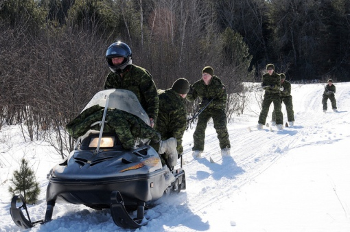 Learning skijoring in winter warfare training